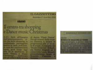 2009 Dicembre Mattino e Gazzettino di Padova