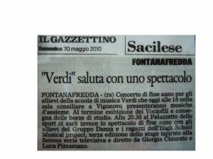 2010 Maggio Gazzettino di Pordenone