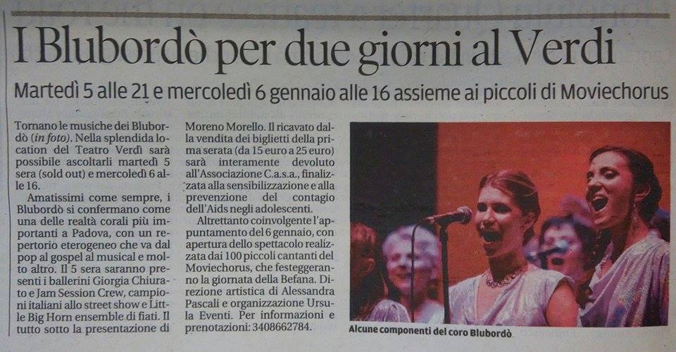 Mattino di Padova 31 12 2015