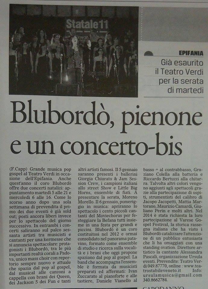 Gazzettino di Padova 02 01 2016
