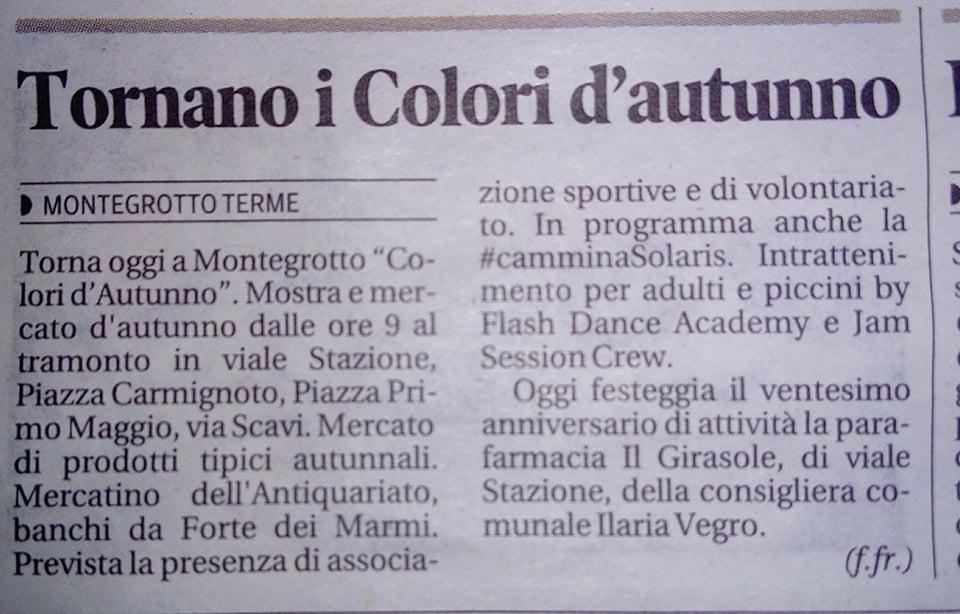 Articolo colori d'autunno